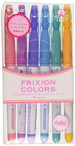V Clear Friction Erasable Markers Pens 6 Color Set For