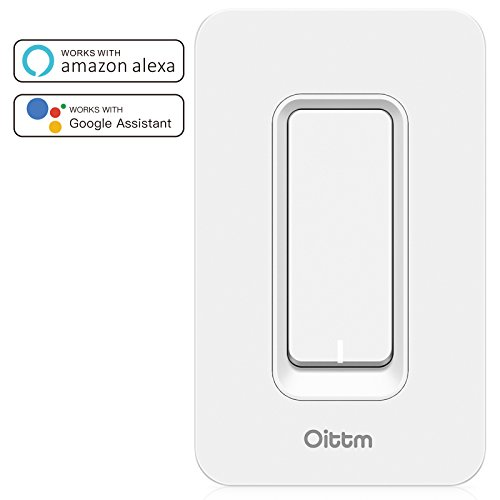 oittm smart light switch works with alexa wi fi wall switch timing switch outlet remote control. Black Bedroom Furniture Sets. Home Design Ideas