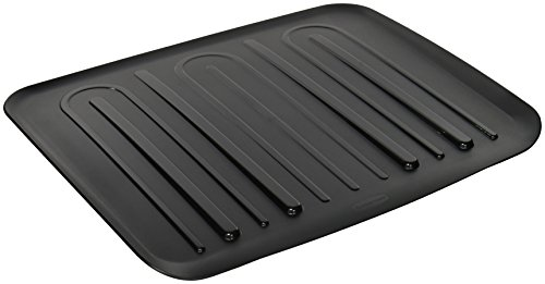 Rubbermaid Dish Drainer Tray Plastic Black 1938748 Prahoq